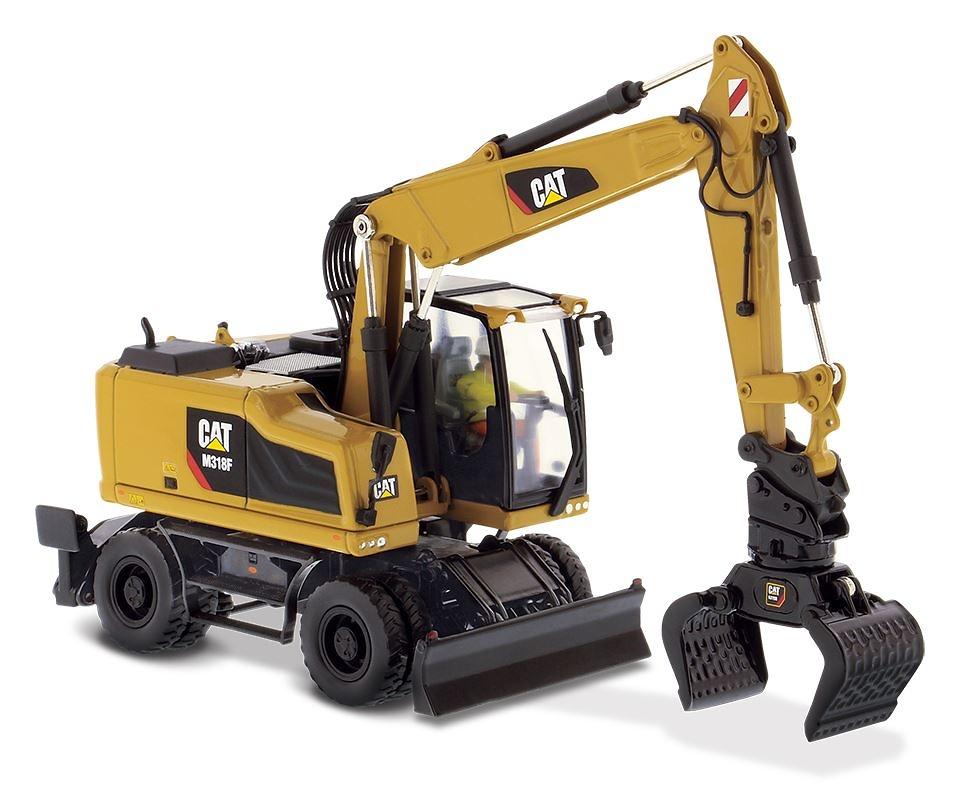 Cat M318F excavadora ruedas Diecast Masters 85508 escala 1/50