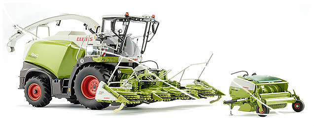 Claas Jaguar 860 picadora + Orbis 750 + Pick up 300 Wiking 77812 escala 1/32