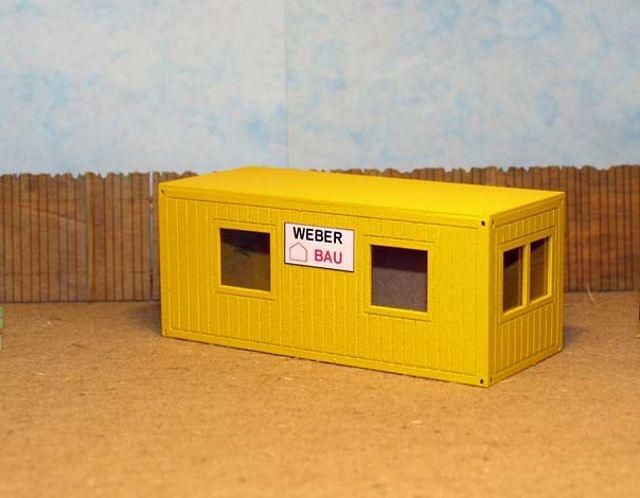 Contenedor de oficina de obra, Zapf-Modell 5007801 escala 1/50