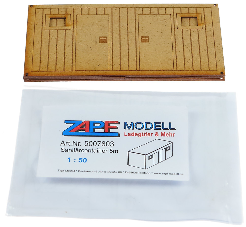 Contenedor sanitario obra para montar y pintar, Zapf Modelle 5007803 escala 1/50