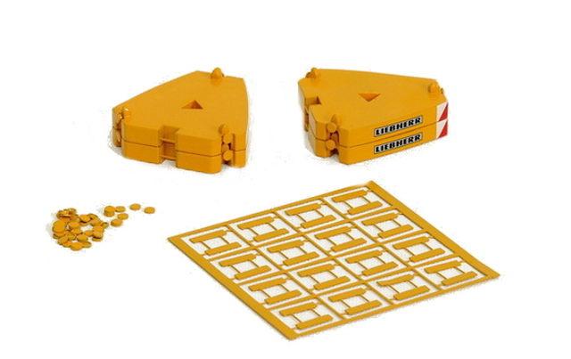Contra pesos 5 ton para Liebherr LTM11200, Ycc Models 1/50