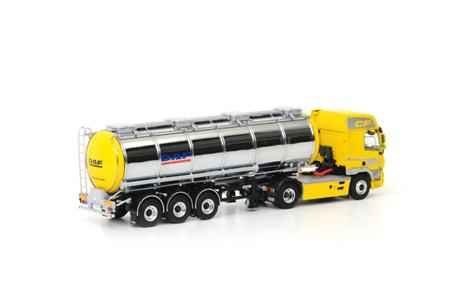 DAF CF 85 Space Cab cisterna cromada 3 ejes Wsi Models 02-1135 escala 1/50