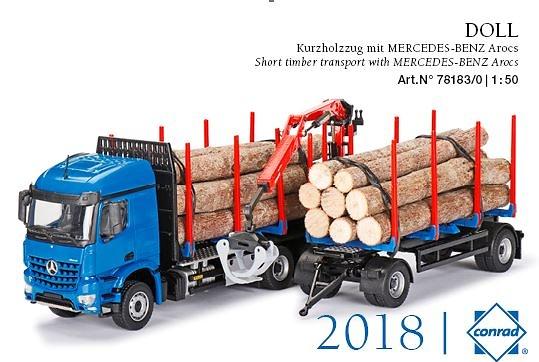 DOLL troncos cortos Mercedes Arocs Conrad Modelle 78183