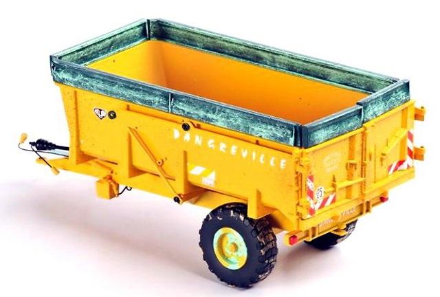 Dangreville 9 Tonnen 1 ejes, Ros Agritec 60218 escala 1/32