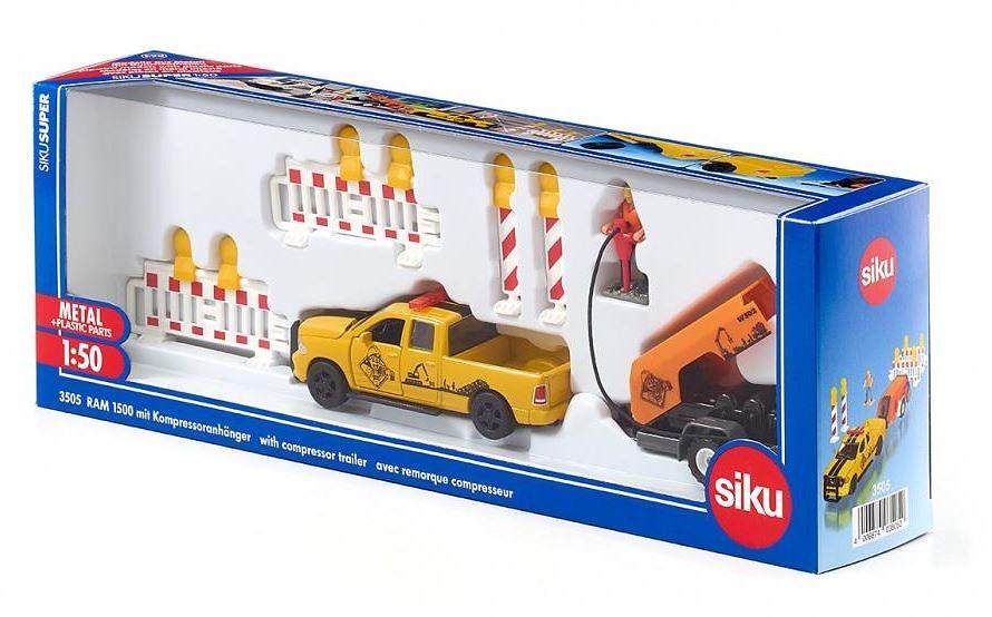 Doge RAM 1500 + compresor + accesorios Siku 3505 escala 1/50