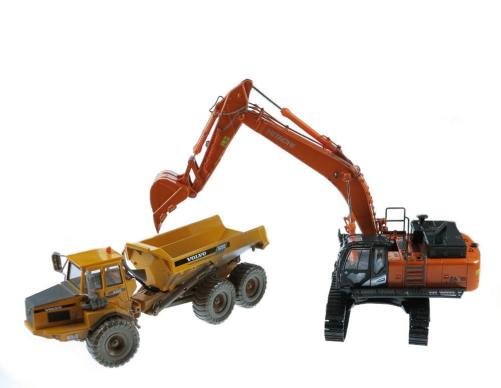 Hitachi zaxis 470 excavadora 1/50 tmcscalemodels