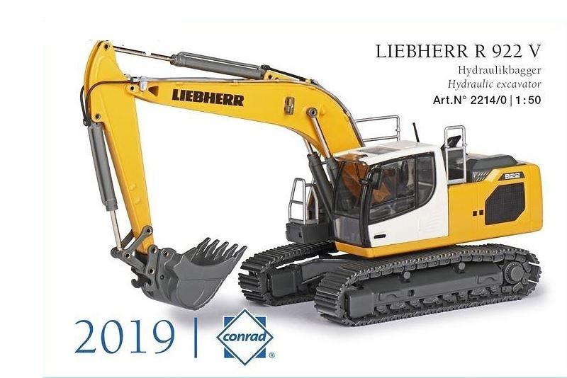 Excavadora Liebherr R 922 V Conrad Modelle 2214 escala 1/50