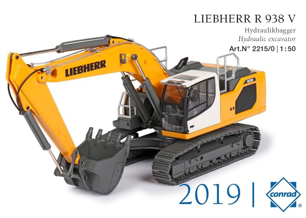 Excavadora Liebherr R 938 V Conrad Modelle 2215 escala 1/50