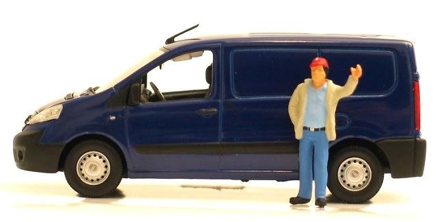FIAT Scudo Furgón cerrado Azul Norev 1/43