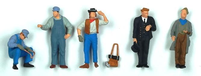 Figuaras trabajadores USA Preiser 65342 escala 1/43
