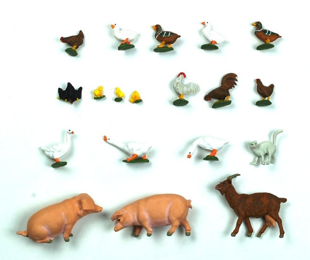 figuras animales de granja preiser 1 43
