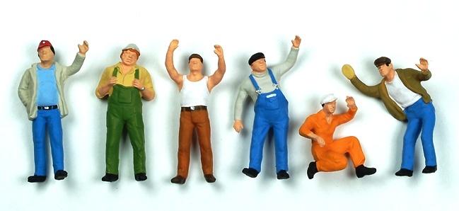 Figuras Camionero / obrero 6 u. Preiser 68202 1/50