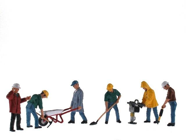 Figuras Obrero Figuras De Construccion 6 Ud Bymo 25016