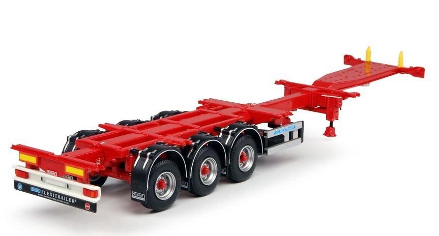 Flexitrailer contenedores Tekno 64553 escala 1/50