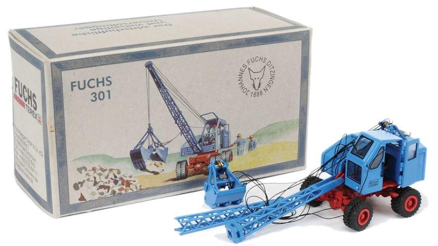 Fuchs F 301 Excavadora ruedas azul Nzg Modelle 520 escala 1/50
