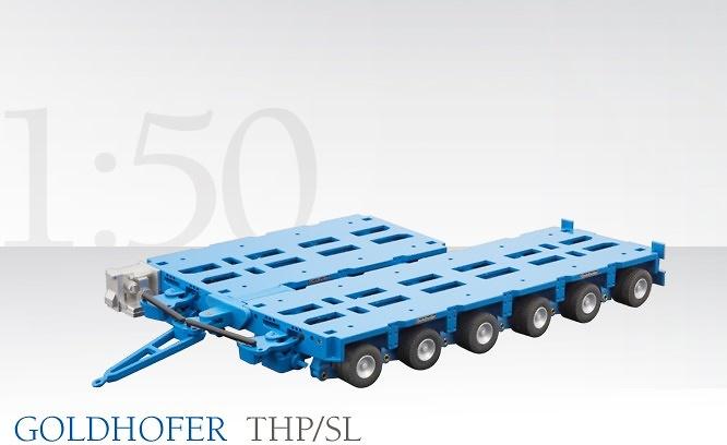 Goldhofer Module Thp/SL4 y THP/SL6 Conrad Modelle 98019-05 escala 1/50