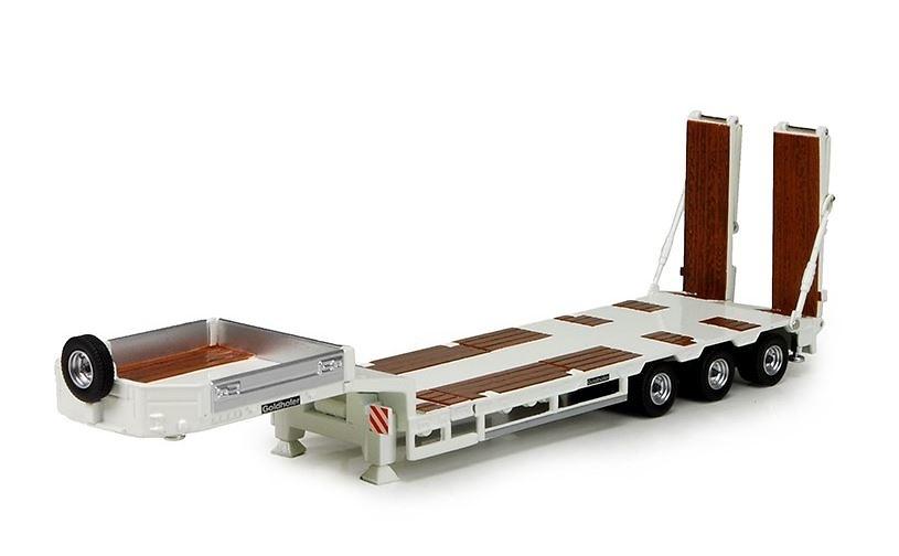 Goldhofer cama baja 3 ejes con rampas, Tekno 72529 escala 1/50