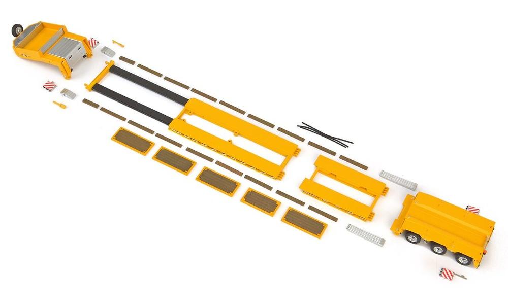 Goldhofer cama baja - amarillo Imc Models 0052