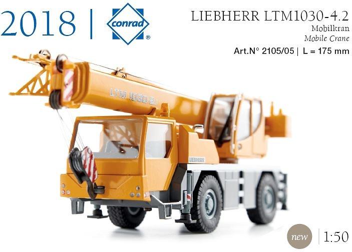 Grua Liebherr LTM 1030-2.1 Conrad 2105/05 escala 1/50