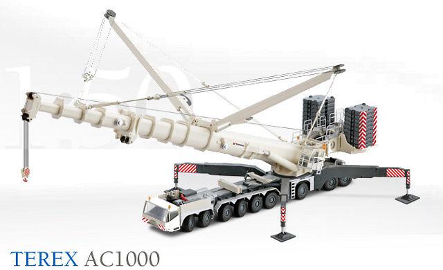 Grua mobil Terex AC1000 9 ejes, Conrad Modelle 2108 escala 1/50