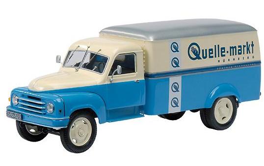 HANOMAG L28 Camión reparto Quelle Schuco 1/43