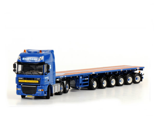 Haegens 6-axle Ballasttrailer Nooteboom+ DAF XF 105 SSC 6x4 Wsi Models 1/50