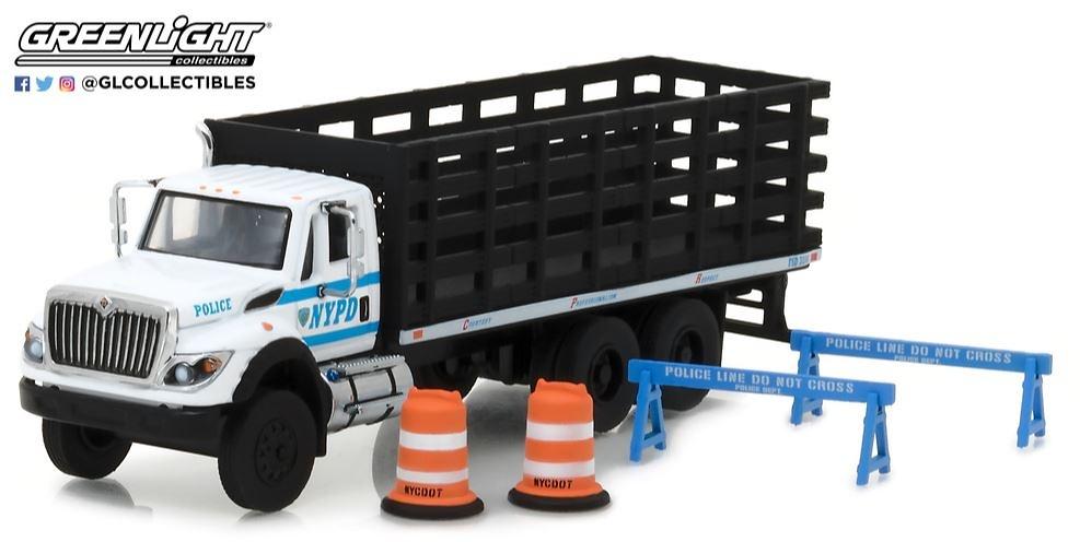 International WorkStar - Policía de Nueva York con accesorios seguridad Greenlight 45030b