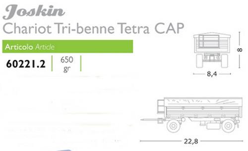 Joskin Tribenne Tetracap, Ros Agritec 60221 escala 1/32