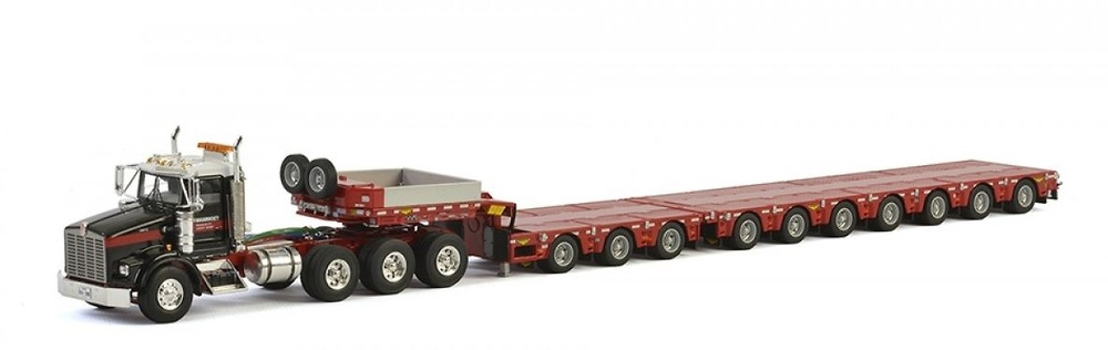 Kenworth T800 + plataforma baja 7 ejes Mammoet Wsi Models 410232 escala 1/50