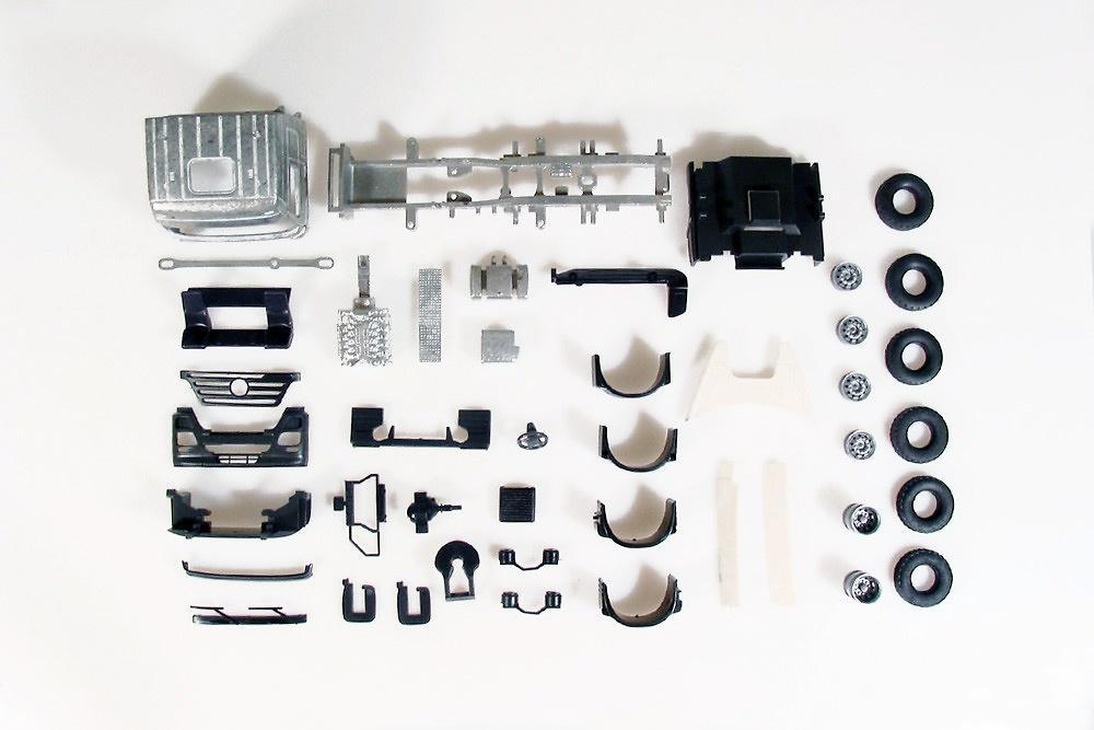 Kit Mercedes Benz Actros 6x2 Tekno 55367 escala 1/50