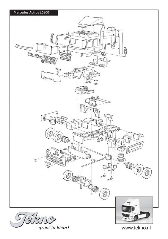Kit Mercedes-Benz Actros L 4x2 Tekno 55368 escala 1/50