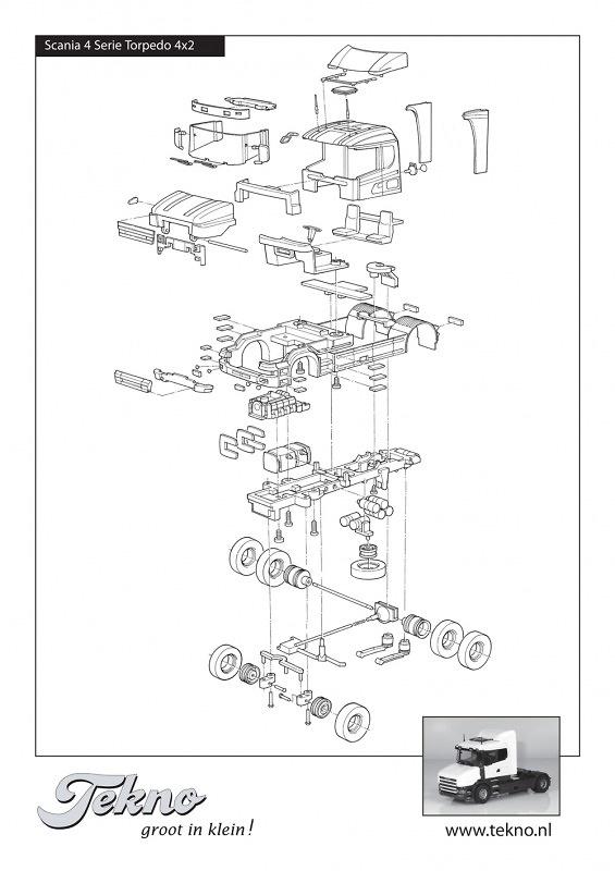 Kit Scania 4-serie Torpedo Tekno 55358 4x2 escala 1/50