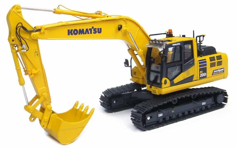 Komatsu PC200i-10 Imc Excavadora, Universal Hobbies 8107 escala 1/50