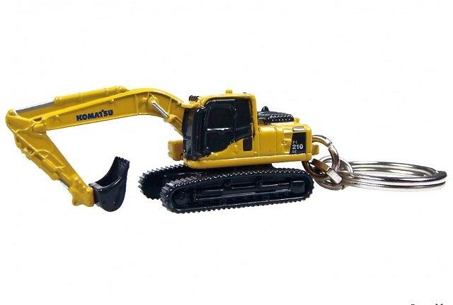 KOMATSU PC210 Llavero Blister Excavadora, Universal Hobbies