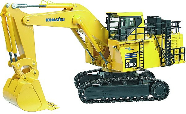 Komatsu PC3000-6 excavadora mineria, frontal, Nzg 613 escala 1/50
