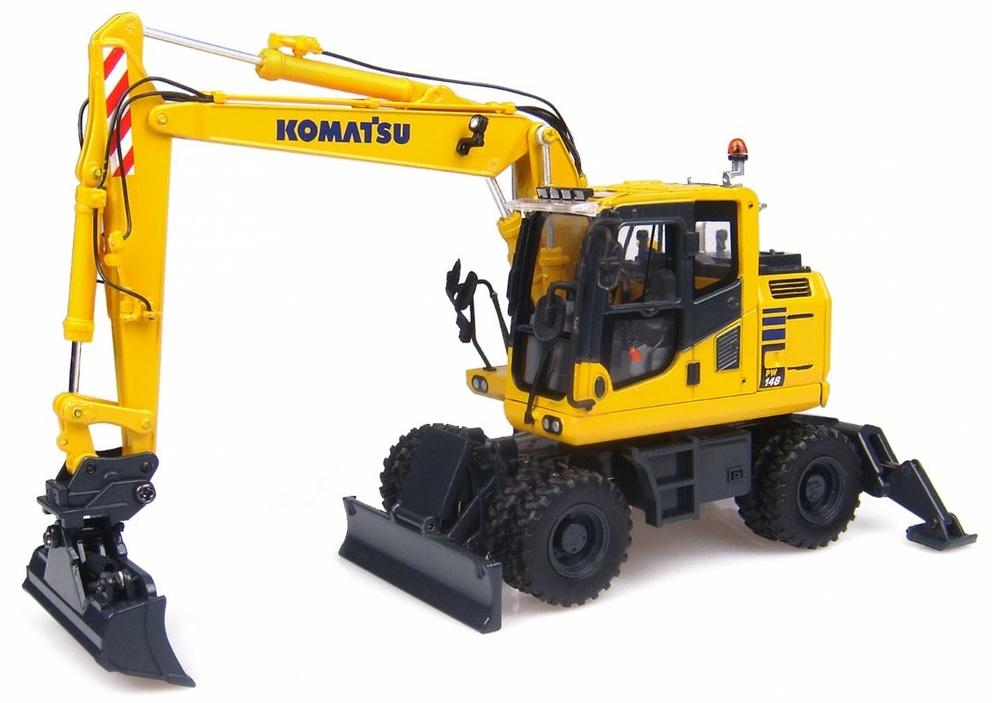 Komatsu Pw148 Excavadora, Universal Hobbies 8083 escala 1/50