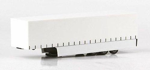 Remolque Tautliner Carenado Trailer sin decoración Herpa 1/87