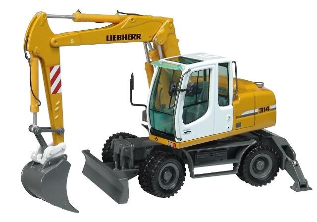 Liebherr A314 Litronic excavadora con ruedas, Nzg Modelle 675