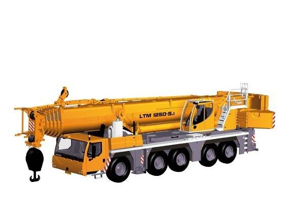 Liebherr LTM 1250-5.1 grua autopropulsada, Nzg Modelle 959 escala 1/50