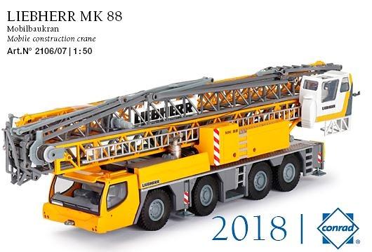 Liebherr MK88 grua torre mobil version 2018 Conrad Modelle