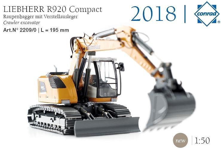 Liebherr R920 + accesorio cazo ancho Conrad Modelle 2209