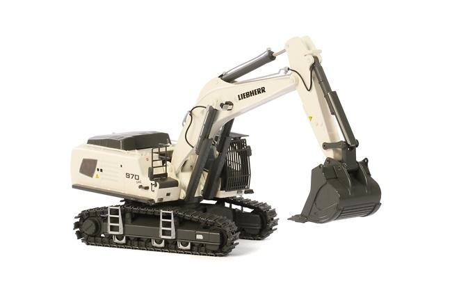 Liebherr R970 SME excavadora blanca Wsi Models 04-1156 escala 1/50