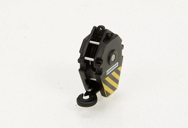 Liebherr gancho grua negro/amarillo con 1 polea - 41 ton, YCC 1/50