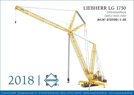 Liebherr-grua mobil LG 1750 Conrad Modelle 2737/09