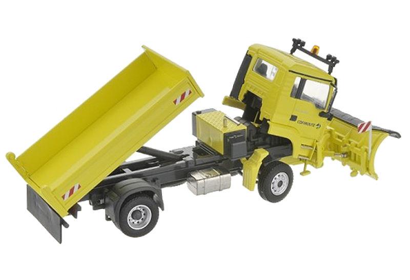 MAN TGS 2 ejes quitanieves Conrad Modelle 71169/03 escala 1/50