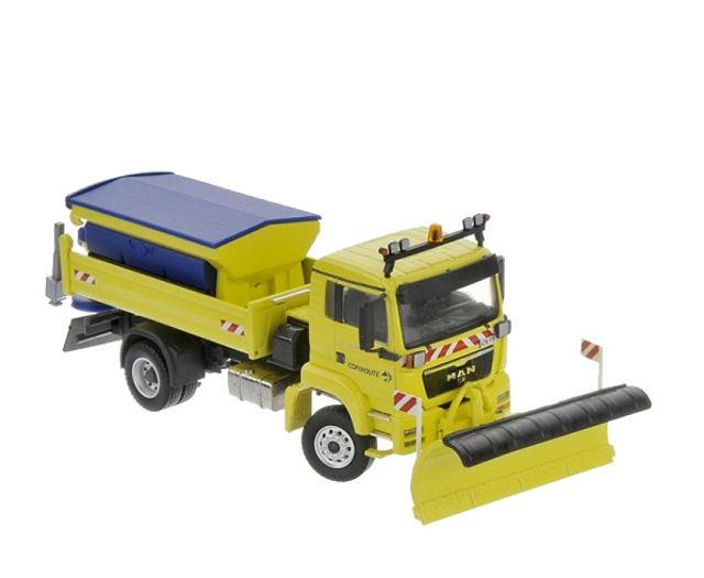 MAN TGS 2 ejes quitanieves Conrad Modelle 71169/02 escala 1/50