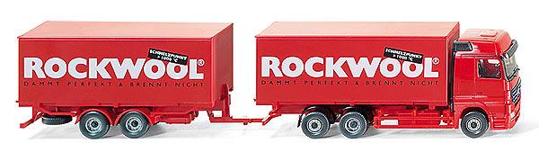 MB Actros Camión con remolque, Rockwool, Wiking 1/87