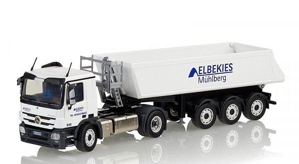 MB Actros MP3 + bañera 3 ejes Elbekies Muehlberg Conrad Modelle 72202/05