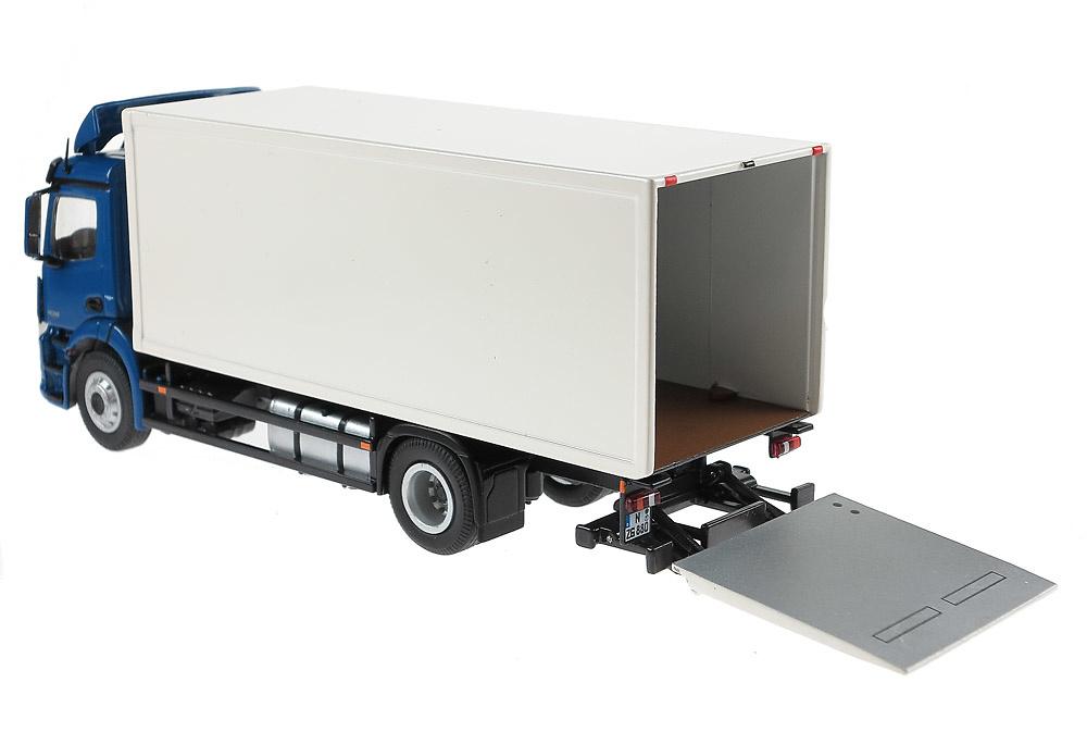 MB Antos 4x2 FH 420S caja cerrada con plataforma Nzg 880/20 escala 1/50