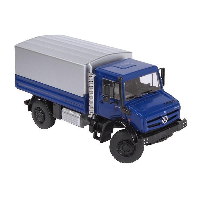 MB Unimog U5000 azul Nzg Modelle 9111-20 escala 1/50